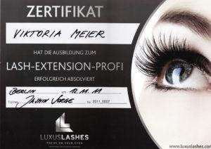 Zertifikat LASH-EXTENSION-PROFI
